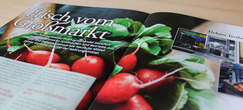 Advertorial für den Konrad Koester Fruchtgroßhandel