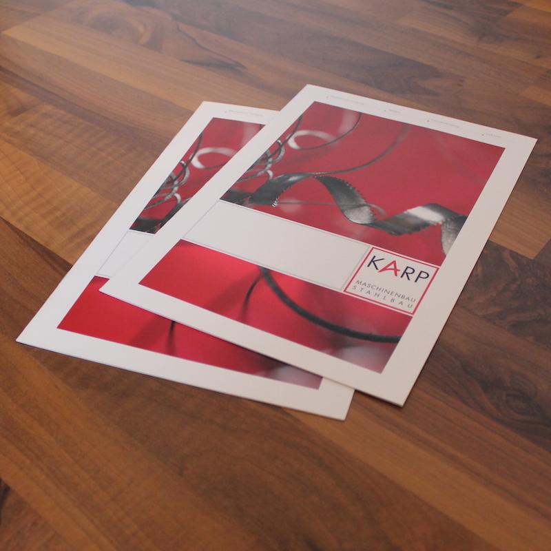 Imagebroschüre für Maschinenbau Karp