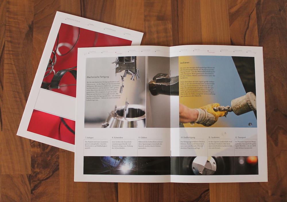 Die Imagebroschüre für die Firma Maschinenbau Karp